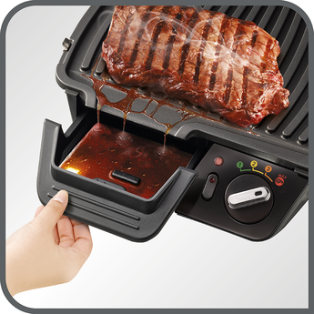 Tefal GC450B27 Super Grill 2-in-1 Stainless Steel 4 Settings Including Searing