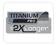 Titanium pro coating up to 2x longer