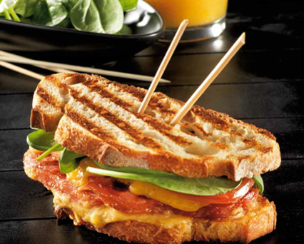 Grilled Club Sandwich With Peameal Bacon Recipe Tefal