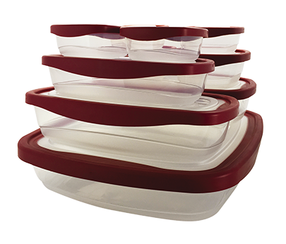 Set of 10 red containers Kiper