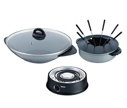 tefal wok fondue compact wk302013. Black Bedroom Furniture Sets. Home Design Ideas