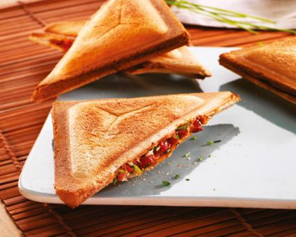 Tuna, tomato and chorizo sandwich