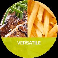 Versatile : Versatile cooking.