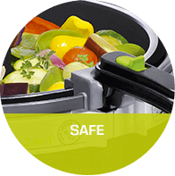 Safe : Auto-stop features. no oil splashing.
