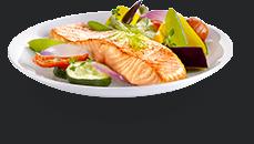 Actifry plato : legumes e receita de salmão