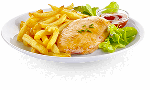 Actifry plato : batatas Fritas and receita de frango