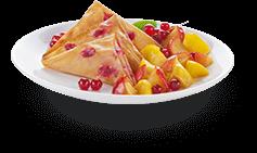 Actifry plato : frutas com samoussas doce receita de sobremesa